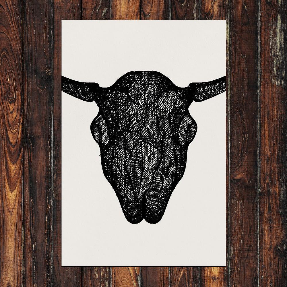"""Animal Skull Print 24x36"""""""