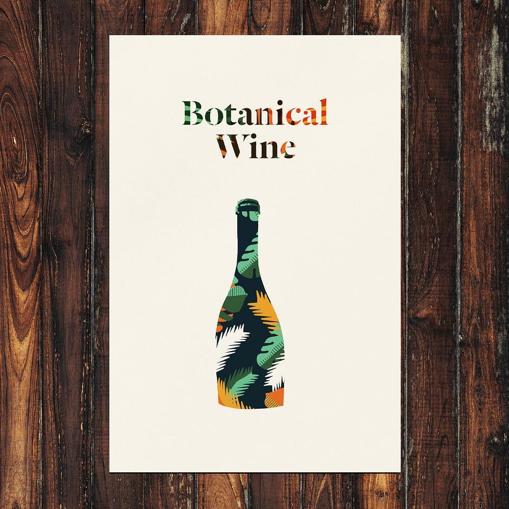 Botanical Wine Print 24x36