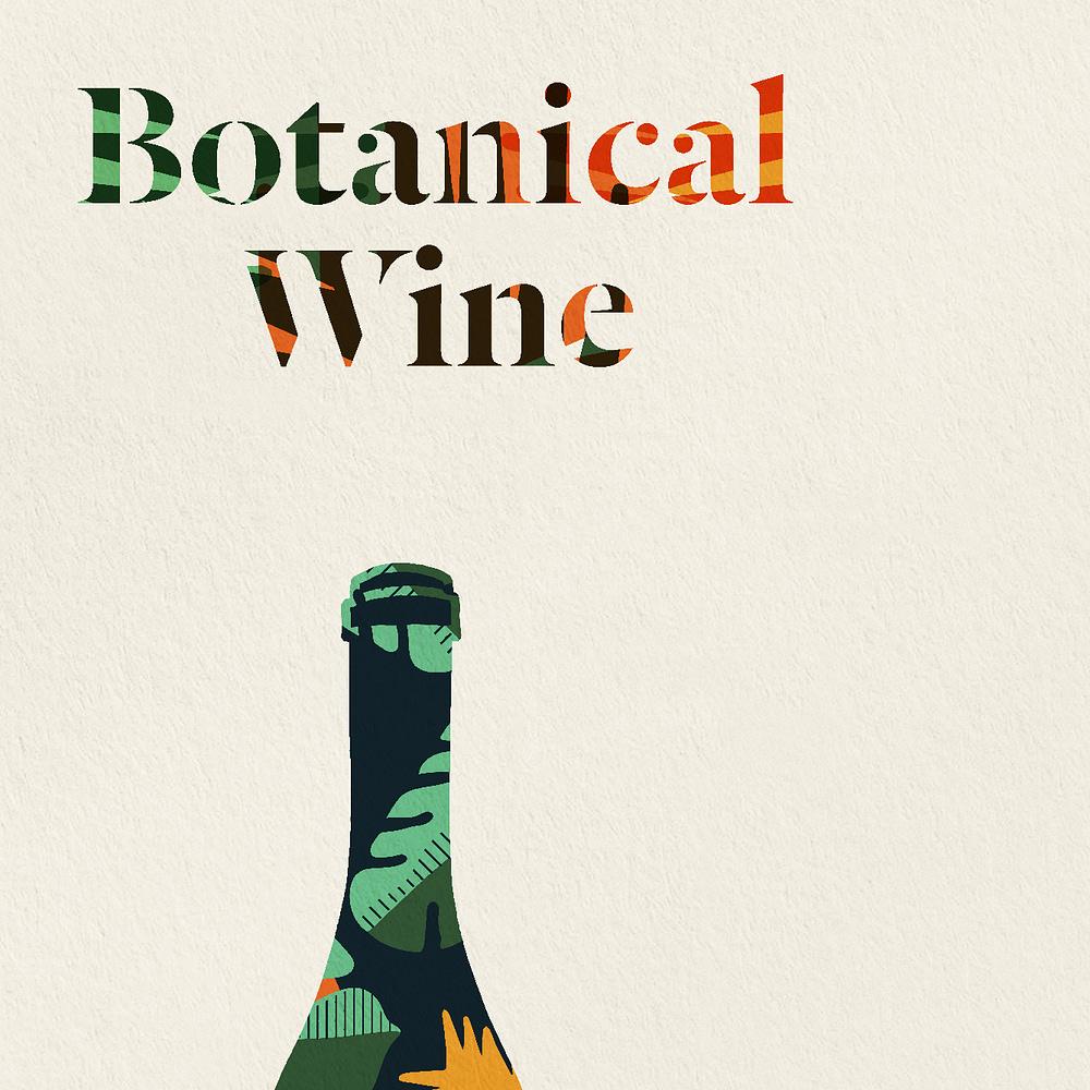 Botanical Wine Print zoomed