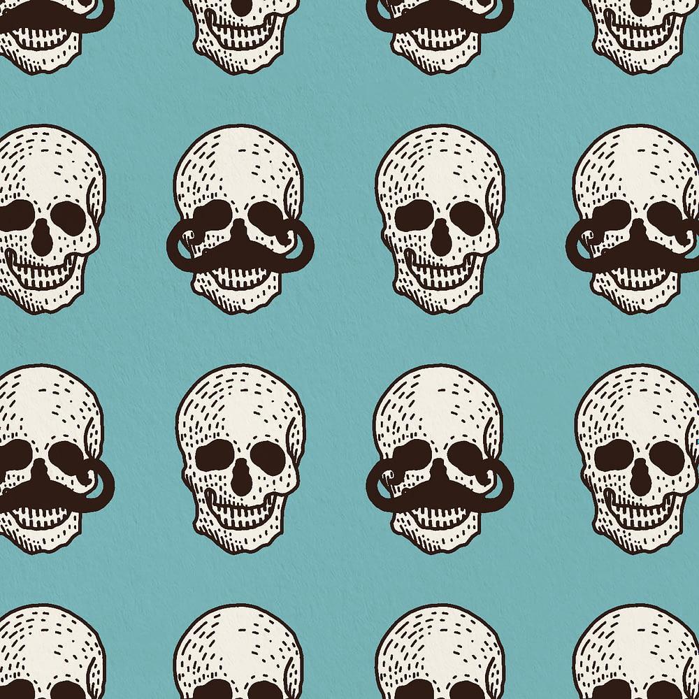 Crazy Skulls Print Zoomed