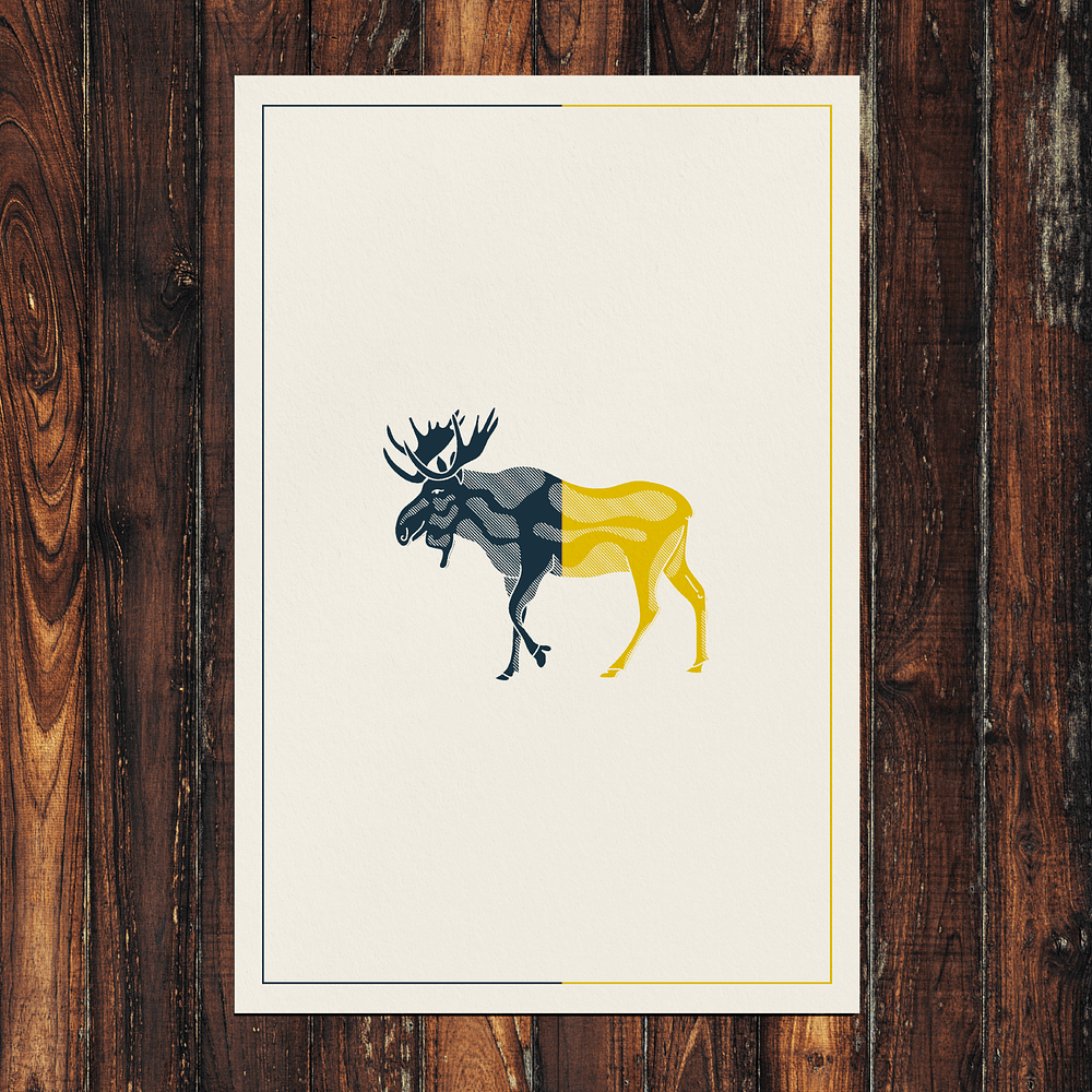 Swedish Moose Print 24x36