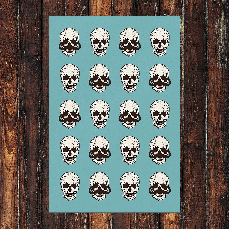Crazy Skulls Print