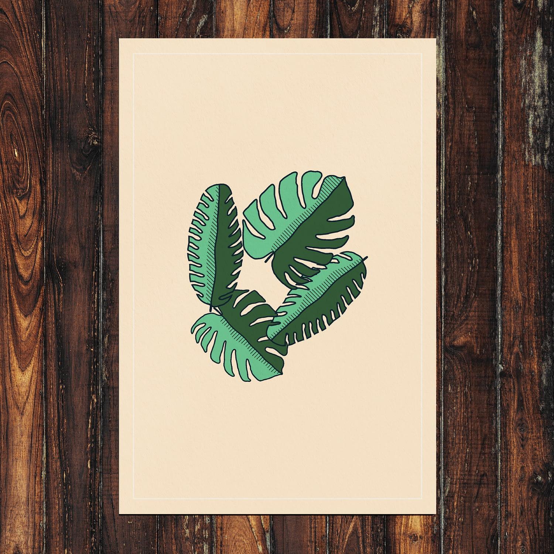 Leaves Print 24x36