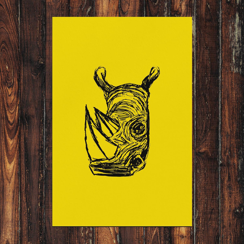 Rhino Print 24x36