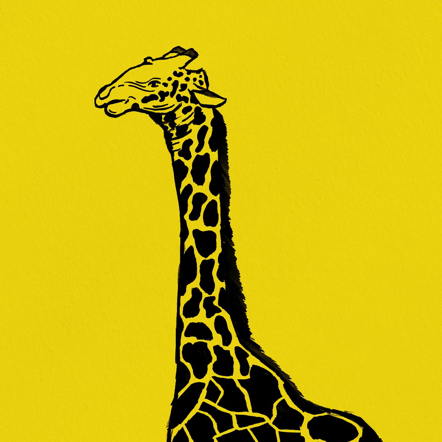 Giraffe 2 Print zoomed